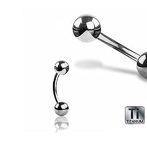 Titan T23 Augenbrauenpiercing Banane Kristall Brauen Stecker Silber 8mm