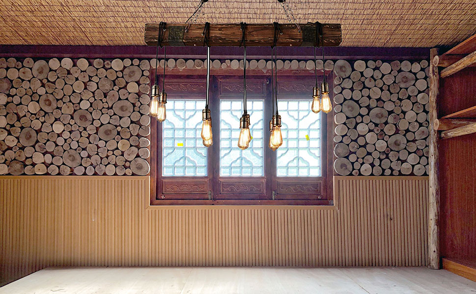 Lampara techo Vintage Industrial Azanza Madera Cuerda Rustica ...