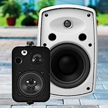 patio speaker sizes