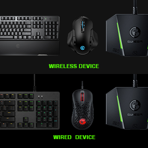 Support wired or wireless devices