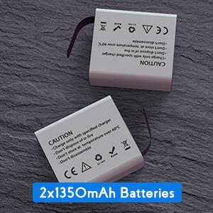 Consumo energetico ridotto e due batterie a capacità maggiorata da 1350mAh