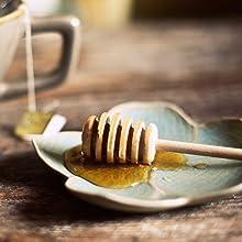 honey comb full of honey sitting on a plate