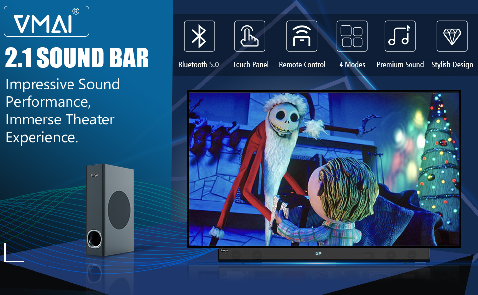 Sound bar TV sound bar Sound bar for TV Sound bar with subwoofer bluetooth soundbar with subwoofer