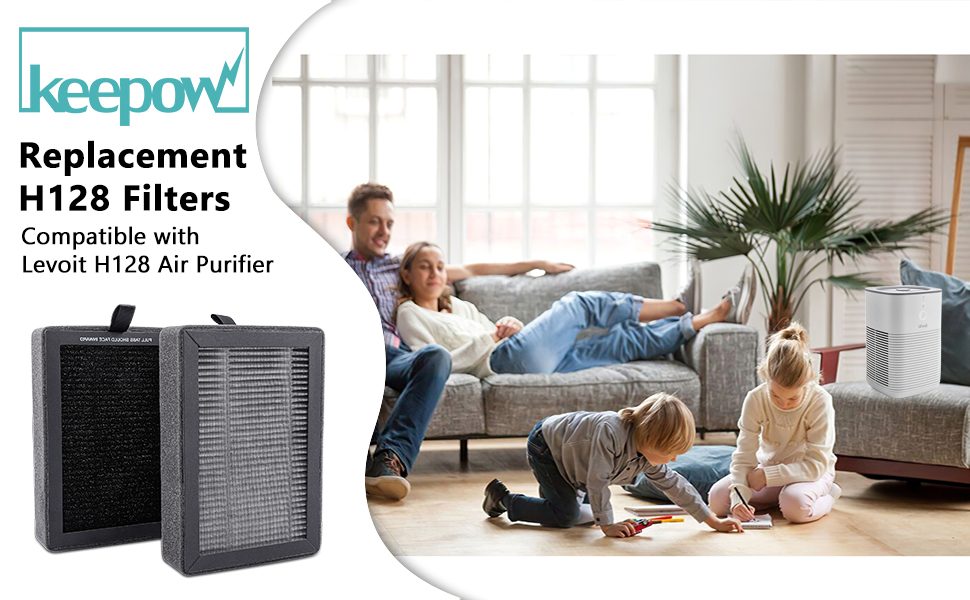 KEEPOW REPLACEMENT H128 FILTERS COMPATIBLE WITH LEVOIT H128 AIR PURIFIER