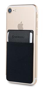 スマホカード入れ 蓋つき 薄型 スマホ背面 カードケース カード入れ カードポーチ カードポケット Sinji Pouch card 交通カード ID カード IC カード 免許証 パースケース