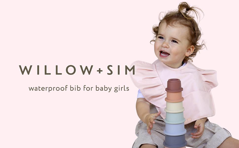 Waterproof Baby bib for baby girl