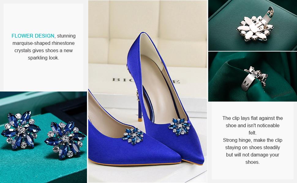 Cryatal Shoe Clips for Wedding Bridal