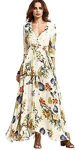 Flared Flowy Maxi Dress