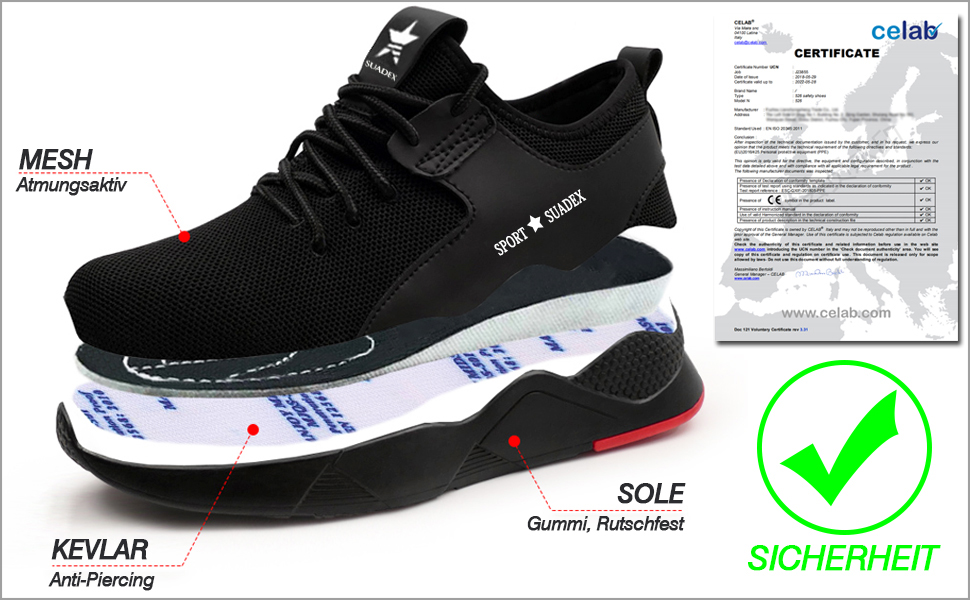 Lightweight steel sole protection