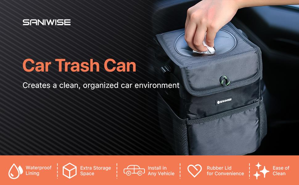 SANIWISE Car Trash Can