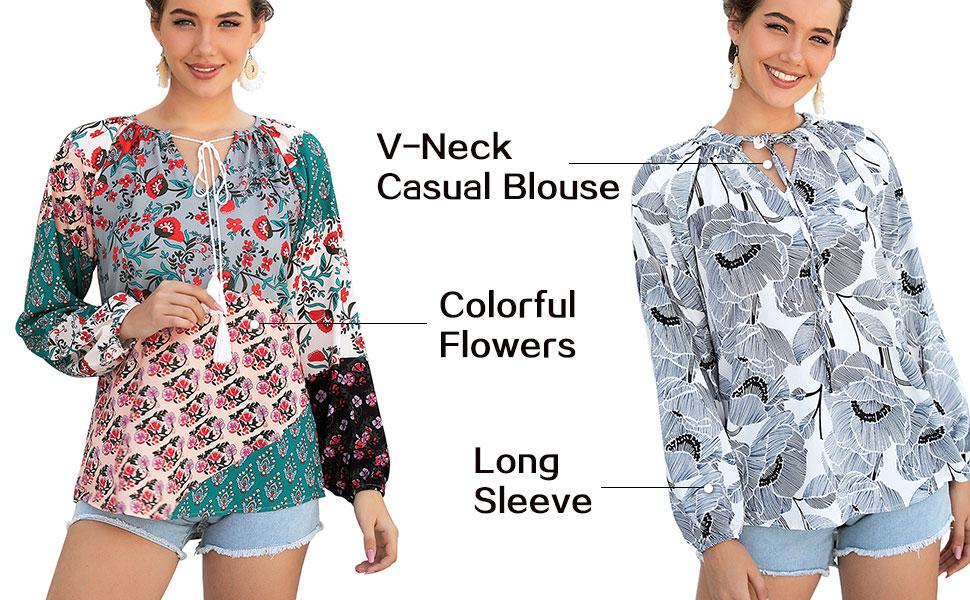 v neck shirt for women