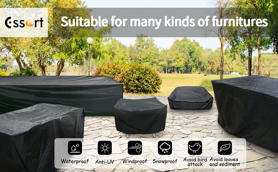 Patio furniture set cover