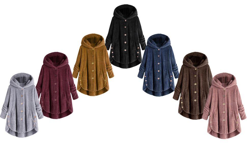Fashion Hooded Faux Fur Coats