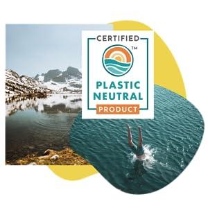 Plastic Neutral Amandean, Zero Plastic supplement, clean ingredients, vegan formula, ocean friendly