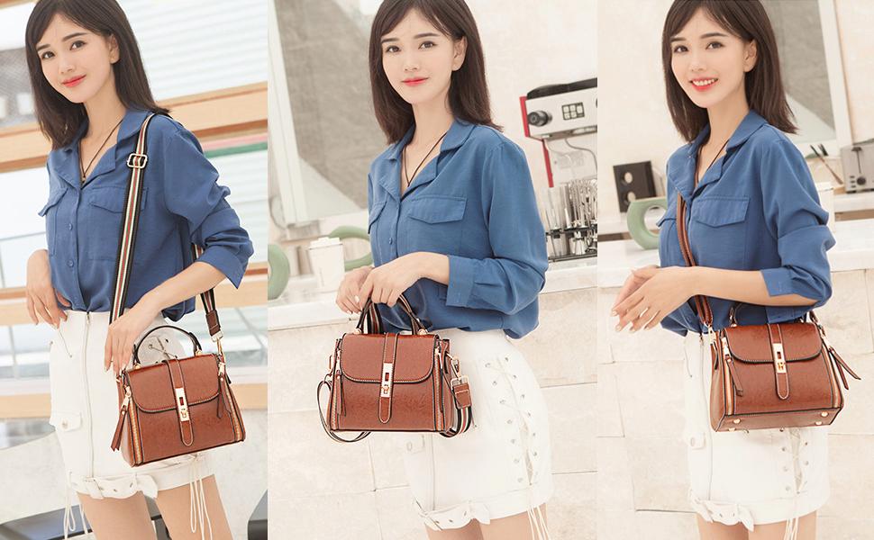 Crossbody Bags for Women Small Purses Shoulder Bag Fashion Leather Handbag Waterproof Upgrade