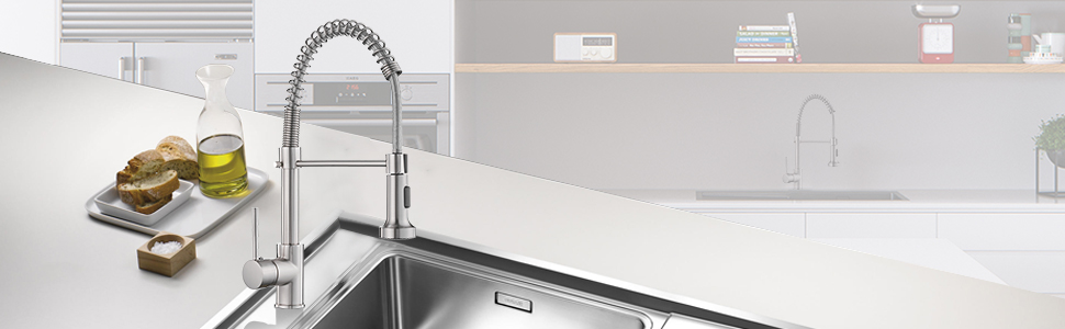 Spring kitchen faucet