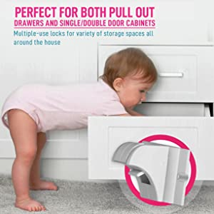 pull out drawer, drawer locks, locks with magnetic safety, keys for child safety locks, bebe proof