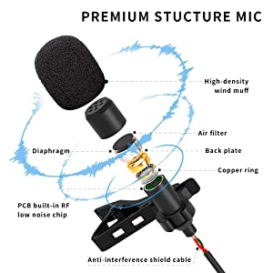 long wired microphone for imam juma khutba masjid bayan conference meeting sound record clip mic