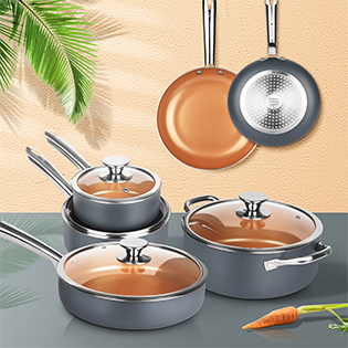 kutime frying pan nonstick stockpot with lid skillet pan and pot set oven safe for family oven safe