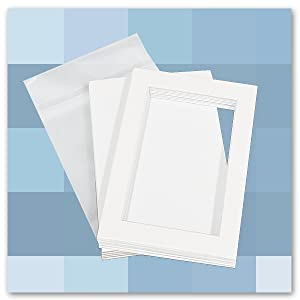golden state art clear bag with photo mat and backer board kit set for photo show