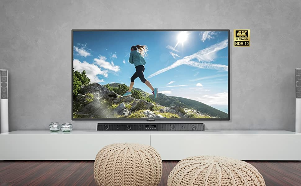Televisor Led 55 Pulgadas Ultra HD 4K Smart, TD Systems K55DLX9US. Resolución 3840 x 2160, HDR10, 3X HDMI, VGA, 2X USB, Smart TV.: Amazon.es: Electrónica