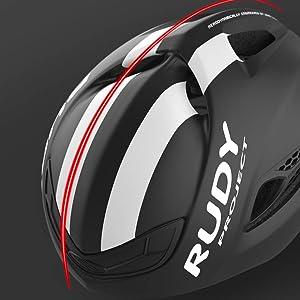 Dorsal ridge on helmet