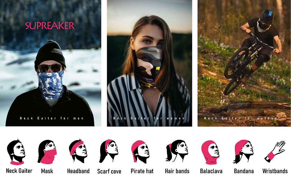 Neck Gaiter for men women