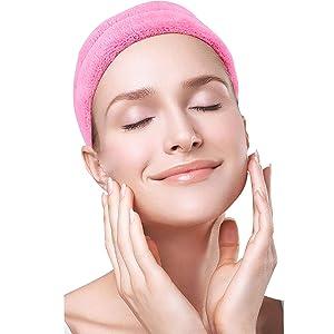 washing face headband
