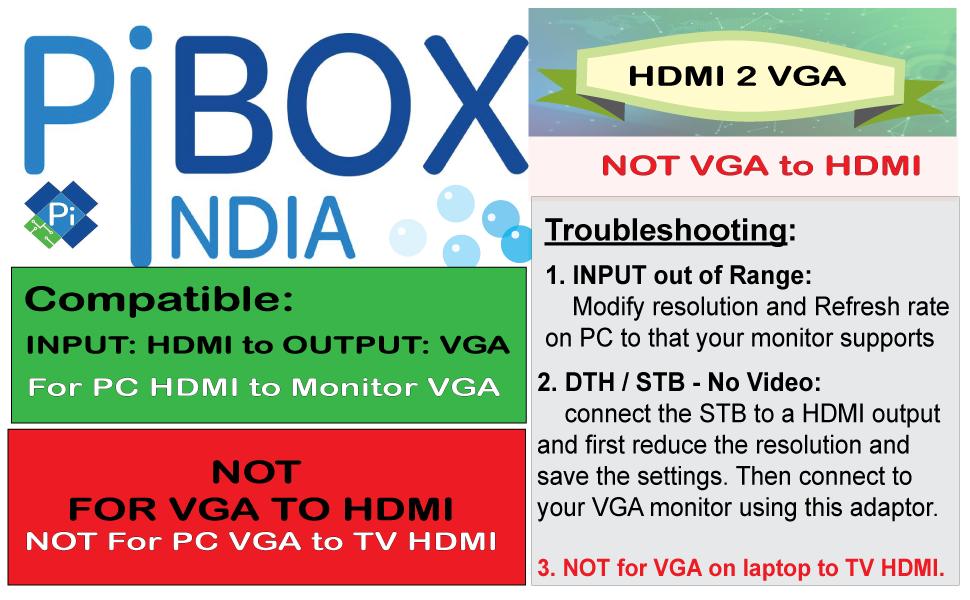 HDMI to VGA