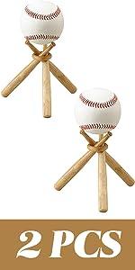 TIHOOD 2PCS Baseball Stand