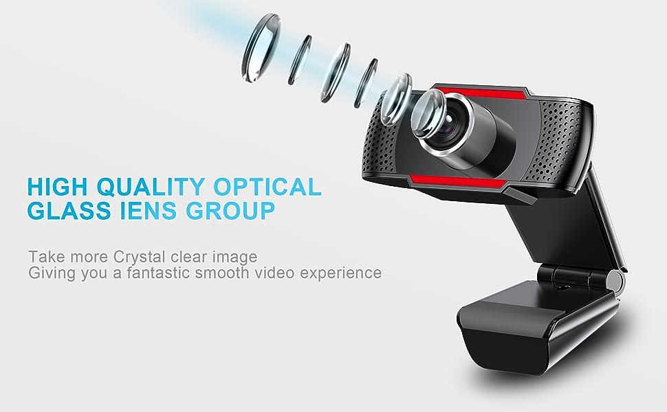 1080P WEBCAM OPTICAL GLASS LENS