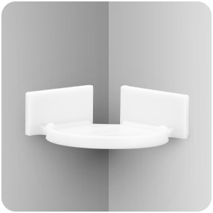 Mini Corner Shelf Mount for Security Cameras, Baby Monitors, Speakers, Plants & More,  No Mess
