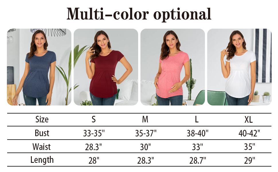 maternity blouse size