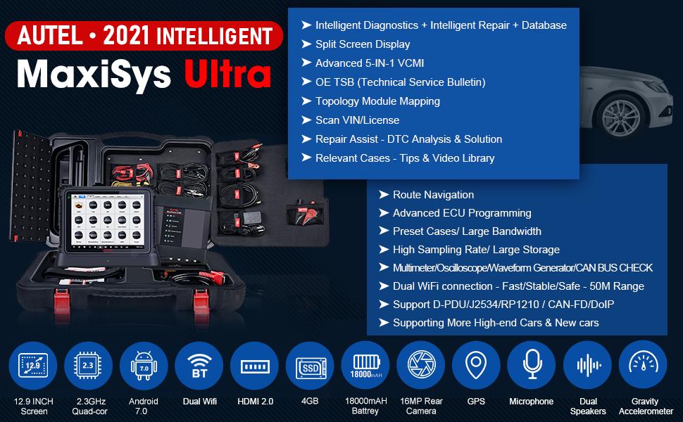 Autel MaxiSys Ultra 2021 Most Intelligent Diagnostic Scan Tool