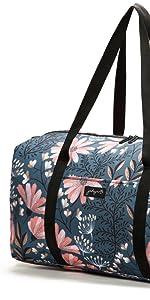 jadyn b weekender duffel travel cary-on duffel shoe pocket premium deluxe fashion designer zip bag