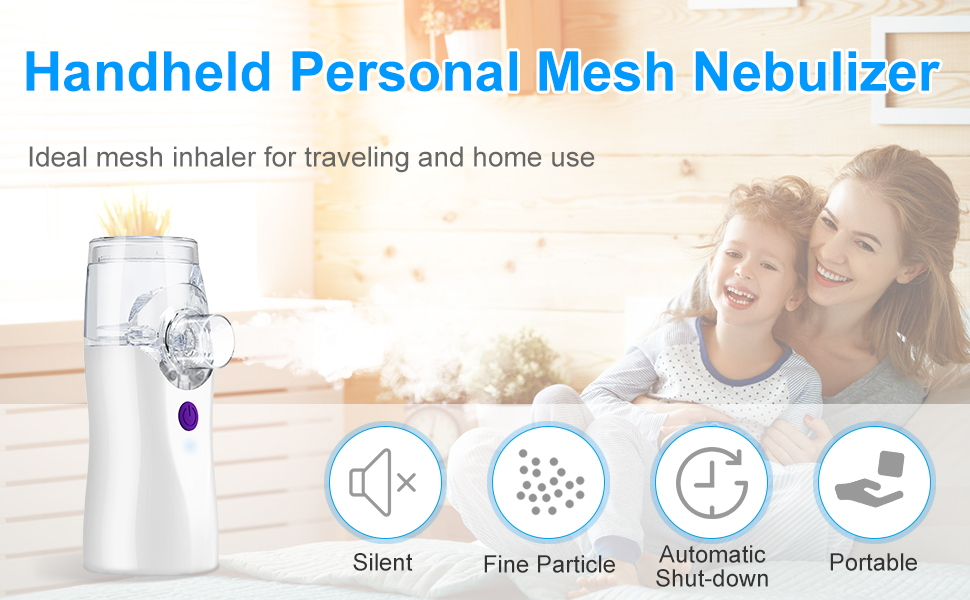 Rechargeable Inhaler [2nd Gen], WELTEAYO Handheld Cool Mist Portable Steam Humidifier Personal Mute Face Steaming Tool Travel Mesh Inhaler for Adults