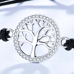 pulsera arbol de la vida plata Mujeres