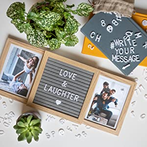 Natural wood customizable picture frame for best friends, family, with picture of dog