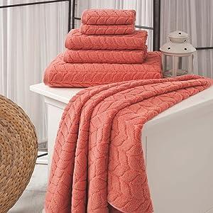 6 pcs towels set