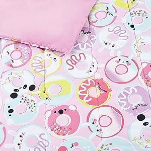 reversible comforter set, animal bedding, 4-piece bedding set, twin comforter set, full comforter