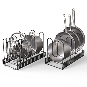 can be used as separated two pot rack organizers