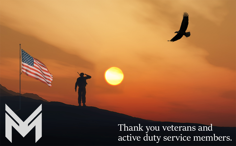 Thank you veterans and active duty members.