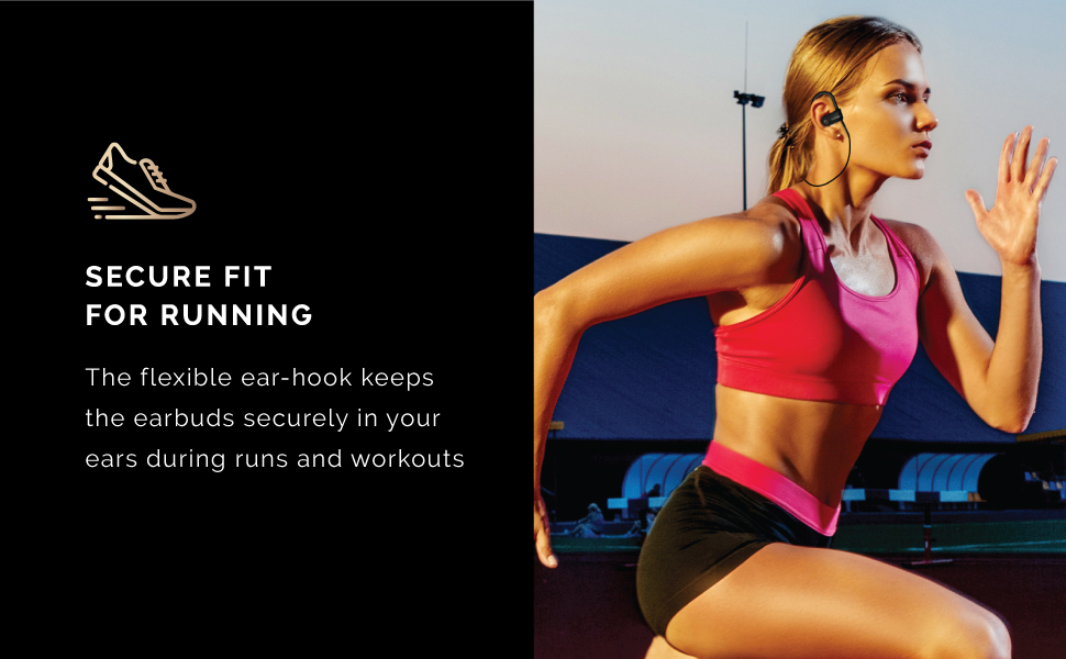 secure fit for running sprint track and field workout gym crossfit excercise audiophonos inalambrico