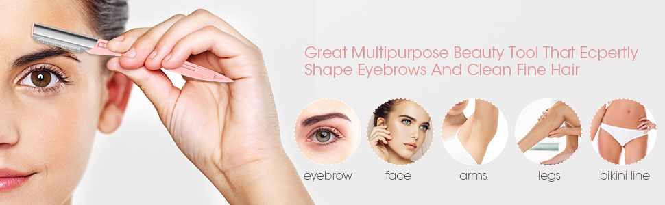 10PCS Portable Eyebrow Razor 2