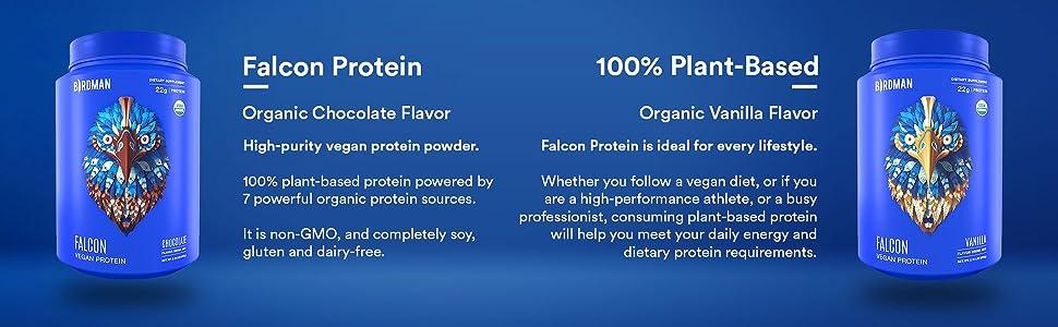 Falcon Protein, Vegan Protein, Plant Based Protein, Take Flight, Veggie Protein, Plant Based Protein