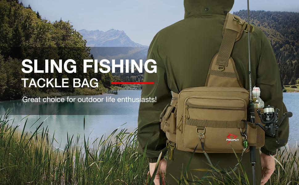 piscifun sling fishing tackle bag