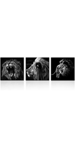 animal artwork for walls Framed animal Prints for bedroom 3 pieces canvas wall art