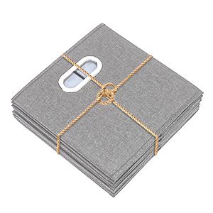 TYEERS Lot de 2 Bo/îte de Rangement Lavable Pliable Cube de Rangement en Tissu Ouvert avec Poign/ée pour Armoire Biblioth/èque Etag/ères Placard Bureau Livres V/êtement Jouets Lego CD Peluche Noir