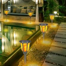 solar torch lights outdoor waterproof