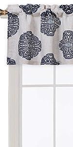 medallion kitchen curtain